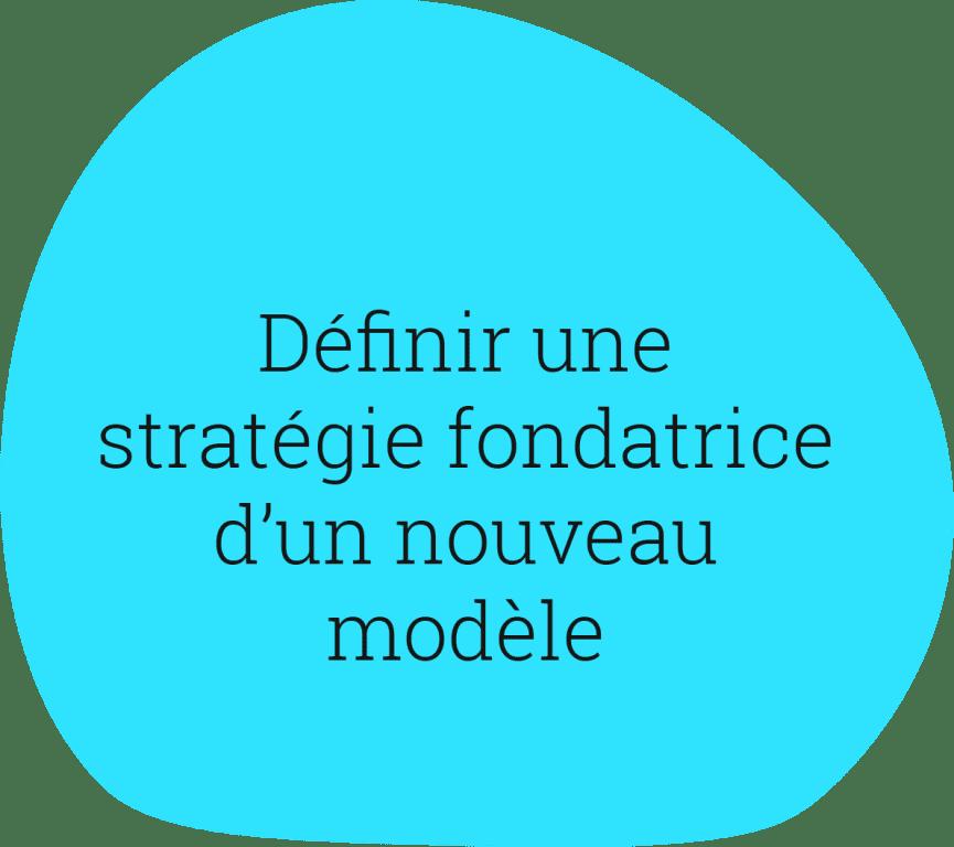 Définir une stratégie fondatrice d'un nouveau modèle